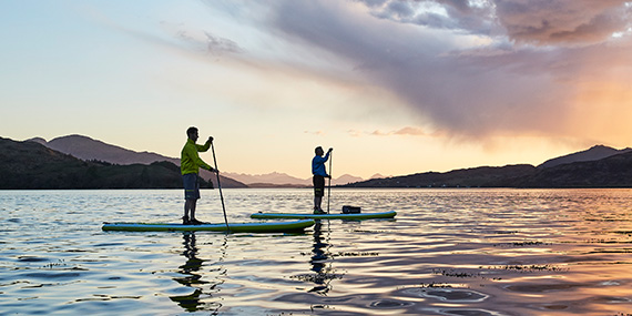 SUP suptour sunrise sunset stilte suppen stand up paddling